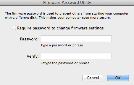 Seguridad en tu mac - Mac Password Firmware